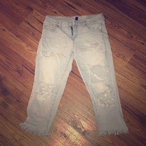 Distressed gap jeans